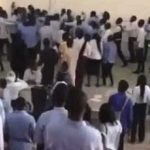 Uproar In Uniabuja As Students Beats Lecturer For Seizing Student's Script During Exam