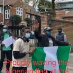 Omokri, others protest, ask Buhari to leave London, go fix Nigerian hospitals .